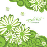 Abstract background with flowers Royalty Free Stock Photography