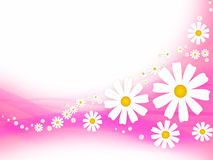 Abstract background with flowers Stock Photography