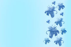 Abstract background with flowers Royalty Free Stock Image