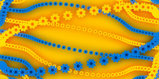 Abstract background, flowers. Abstract background, blue and yellow flowers Royalty Free Stock Photos