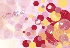 Abstract background with flowers and circles Royalty Free Stock Image