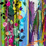 Abstract background flowers Royalty Free Stock Image