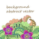 Abstract background, flowers, doodles, wedding invitation Stock Photography