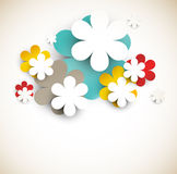 Abstract background with flowers. Background with abstract flowers. This is file of EPS10 format stock illustration