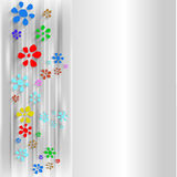 Abstract background with flowers. Gray abstract background with flowers vector illustration