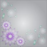 Abstract background with flowers and leafs Stock Images