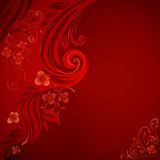 Abstract background with flowers and leaves Royalty Free Stock Photo