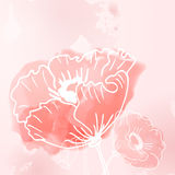 Abstract background of flowers poppies. A Place in the text - vector illustration for ethnic creative design projects Vector Illustration
