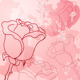 Abstract background of flowers. Roses - A Place in the text - vector illustration for ethnic creative design projects Royalty Free Stock Image