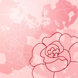 Abstract background of flowers. Roses - A Place in the text - vector illustration for ethnic creative design projects Royalty Free Stock Photo