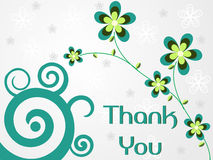 Abstract background with flowers and thankyou text Stock Photos