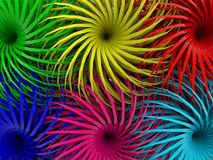 Abstract background of flowers in various colors. In background royalty free illustration
