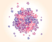 Abstract background with flowers, vector Royalty Free Stock Photography
