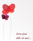 Abstract background with Flowers. Vector Illustration. EPS10 Stock Photography