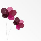 Abstract background with Flowers. Vector Illustration. EPS10 Stock Image