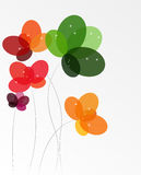 Abstract background with Flowers. Vector Illustration. EPS10 Stock Photo