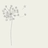 Abstract background with flowers. Vector illustration Stock Images