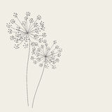 Abstract background with flowers. Vector illustration Stock Image