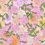 Abstract background of flowers. Vector. Seamless  3 Stock Image