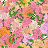 Abstract background of flowers. Vector. Seamless  1 Stock Photography