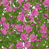 Abstract background of flowers. Vector. Seamless  pink Royalty Free Stock Photos