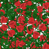 Abstract background of flowers. Vector. Seamless  red Royalty Free Stock Image