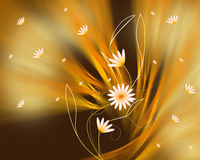 Abstract background and flowers . Royalty Free Stock Image