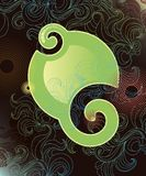 Abstract background with flowing patterns. Vector Illustration stock illustration