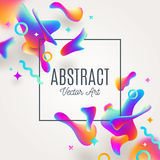 Abstract background with fluid multicolored drops. Design for covers, greeting card, poster or flyers Stock Photo