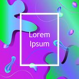 Abstract background with fluid shapes. Green and purple colors Royalty Free Illustration