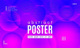 Wave Abstract Background with Color Fluid Shapes. Abstract Background with Fluid Shapes. Wave Distorted Lines. Movement of Abstract Neon Liquid. Trendy Banner royalty free illustration