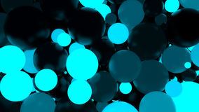 Free Abstract Background. Fluorescent Blue Luminous Balls. Theme Parties. Royalty Free Stock Photography - 80303887