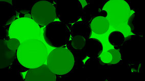 Abstract background. Fluorescent green luminous balls. Theme parties. 3d render illustration Royalty Free Illustration
