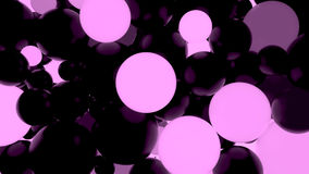 Abstract background. Fluorescent light pink luminous balls. Theme parties. 3d render illustration Royalty Free Stock Photo