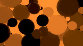 Abstract background. Fluorescent orange luminous balls. Theme parties. 3d render illustration Stock Illustration