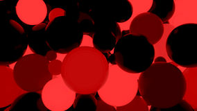 Abstract background. Fluorescent red luminous balls. Theme parties. 3d render illustration Stock Photos