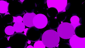 Abstract background. Fluorescent violet luminous balls. Theme parties. 3d render illustration Royalty Free Illustration