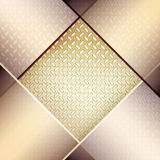 Abstract background with fluted metal texture. Illustration for your design Royalty Free Stock Photo
