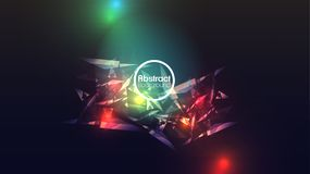 Abstract Background with Flying LowpolyTriangles - Vector Illust. Ration Royalty Free Stock Images