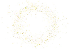 Abstract background with flying subtle golden confetti. Abstract background with flying subtle golden gradient confetti. Vector illustration isolated on white Royalty Free Stock Images