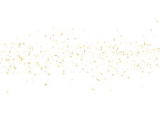 Abstract background with flying subtle golden confetti. Abstract background with flying subtle golden gradient confetti. Vector illustration isolated on white Stock Images