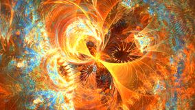 Fractal background with abstract colored 4D Galaxy. High detailed.