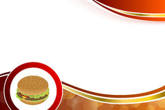 Abstract background food hamburger red yellow gold illustration. Vector Royalty Free Stock Photography