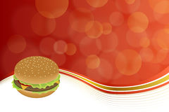 Abstract background food hamburger red yellow gold. Vector Vector Illustration