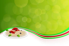 Abstract background food pasta white Italy green red yellow illustration Royalty Free Stock Image