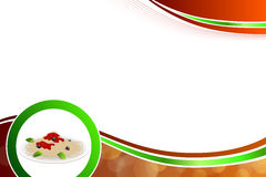 Abstract background food pasta white Italy green red yellow illustration vector Stock Photo