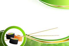 Abstract background food sushi green yellow orange Royalty Free Stock Photography