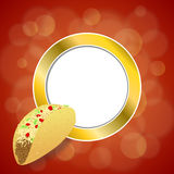 Abstract background food taco red yellow gold circle frame illustration Stock Images