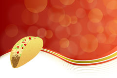 Abstract background food taco red yellow wave frame illustration vector Royalty Free Stock Image