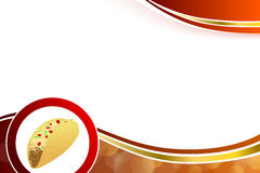 Abstract background food taco red yellow wave frame illustration Stock Photography